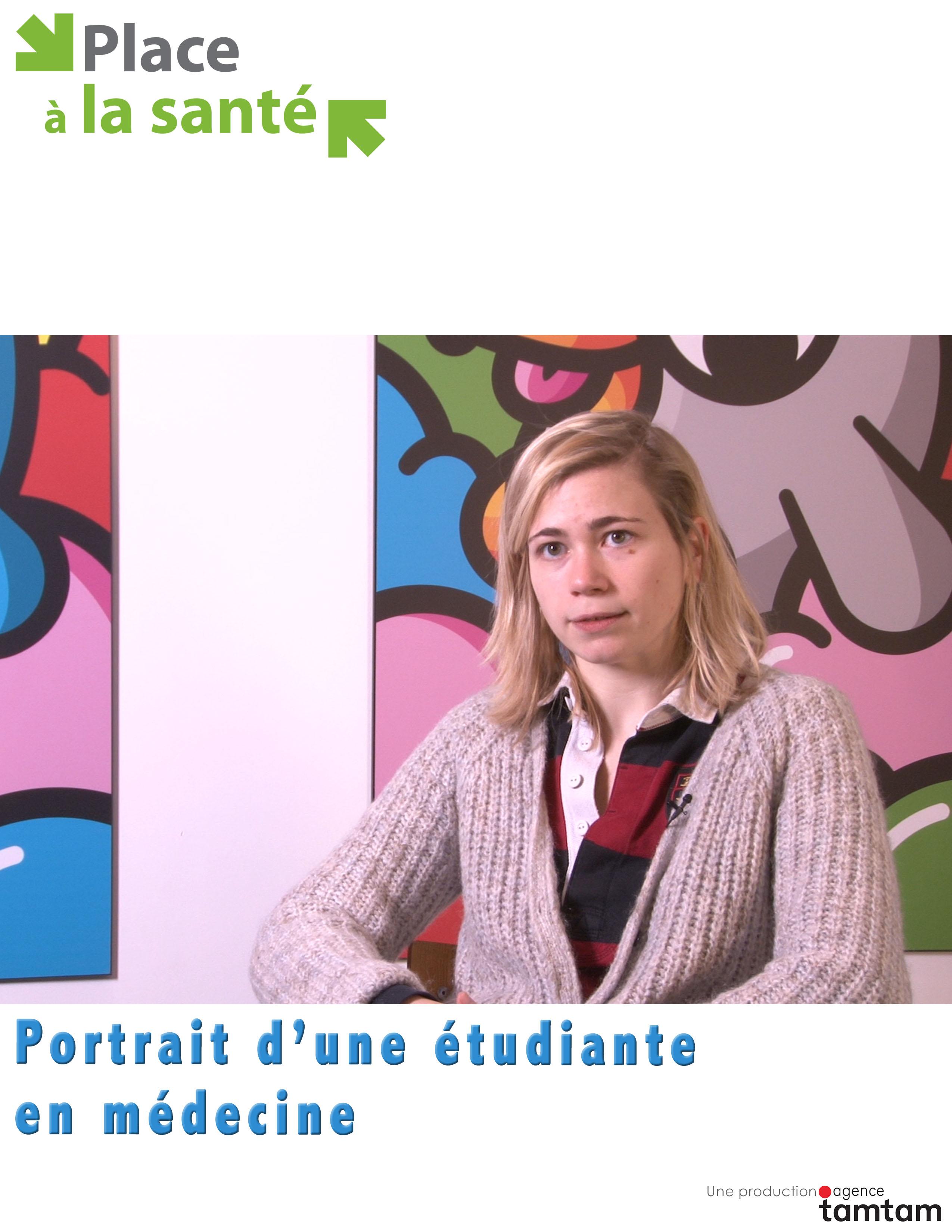 Portrait d'une étudiante en médecine