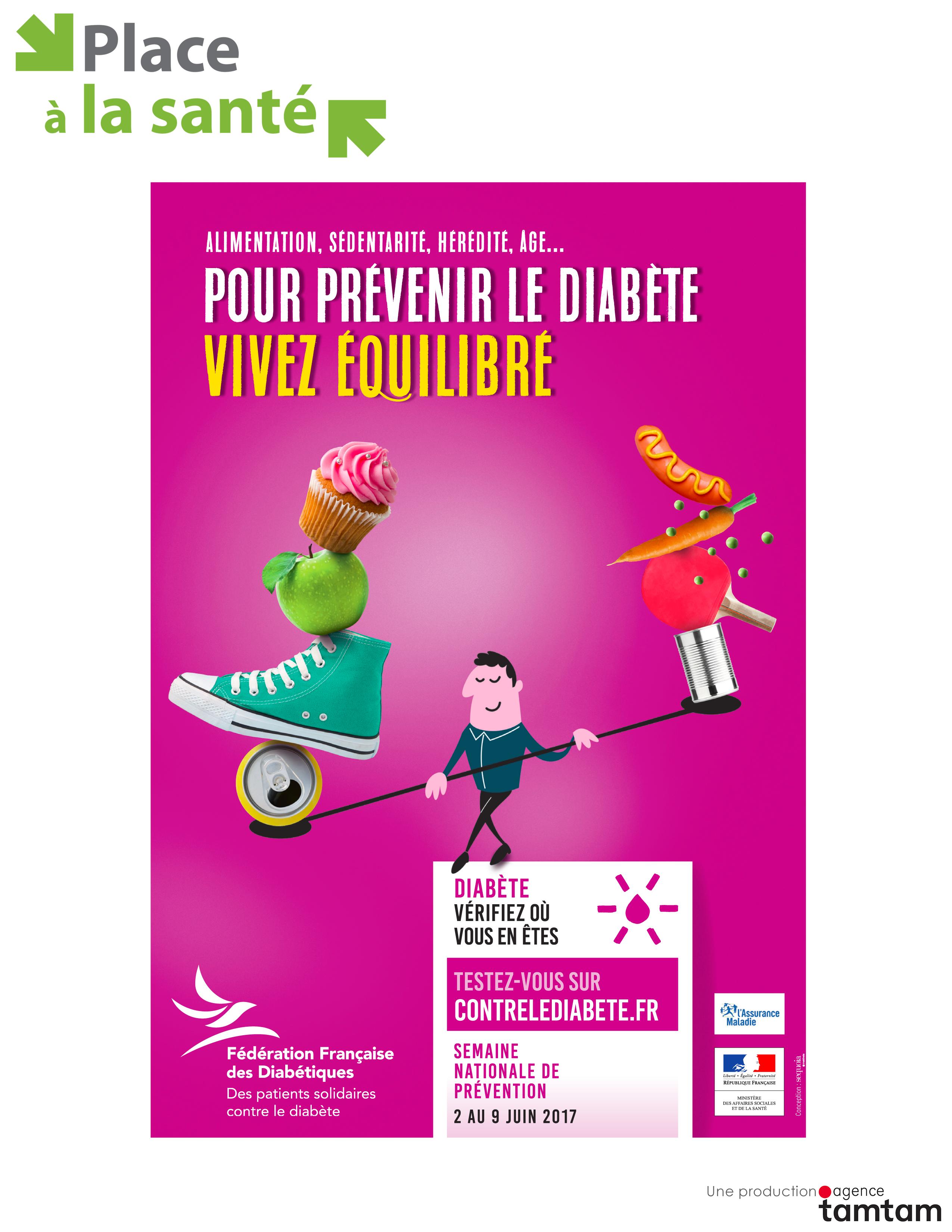 Pour prévenir le diabète: vivez équilibré